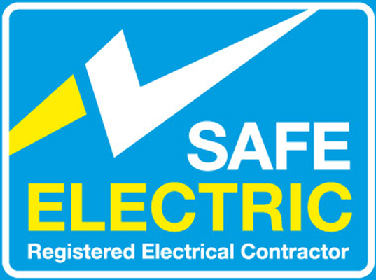 safe electric logo electricians Ireland